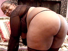 Black BBW having her plump ass cock stuffed