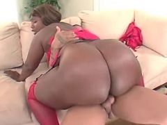 Chubby ebony fucked by black guy