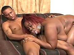 Oversexed black fatty wants more and more